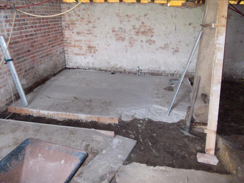 Limecrete floor